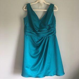 David's Bridal teal dress